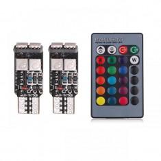 Led T10 6 SMD Multicolor RGB Cu Telecomanda T10RGB01