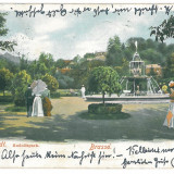 4272 - BRASOV, Romania, Litho, Park - old postcard - used - 1903, Circulata, Printata