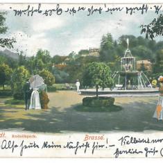 4272 - BRASOV, Romania, Litho, Park - old postcard - used - 1903 - Carte Postala Transilvania pana la 1904, Circulata, Printata