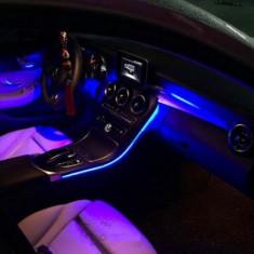 Neon Flexibil 5 Metri Lumina Ambientala auto bmw audi vw cu telecomanda, Universal