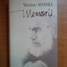 MEMORII de VALERIU ANANIA, 2008 - Carti Crestinism