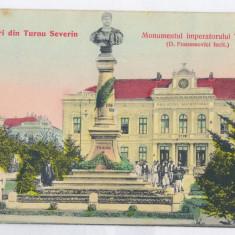 4292 - TURNU-SEVERIN, Ethnics, Military, Traian Statue - old PC. - used - 1906 - Carte Postala Oltenia 1904-1918, Circulata, Printata