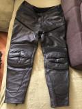 Pantaloni din piele,pentru bikeri,motociclisti,marime 28