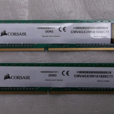 Kit memorie 8gb ddr3 1600mhz Corsair Value Ram, Crucial