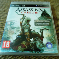 Joc Assassin's Creed III original, PS3! - Jocuri PS3 Ubisoft, Actiune, 18+, Single player