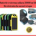 Baterie Externa Solara 5000 mAh - Rezistenta La Socuri, Praf Si Apa