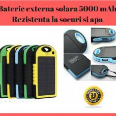 Baterie externa Power Bank Solara 5000 mAh - Rezistenta La Socuri, Praf Si Apa