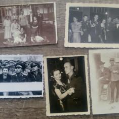 Lot 5 fotografii soldati, militari, ofiteri in diverse ipostaze