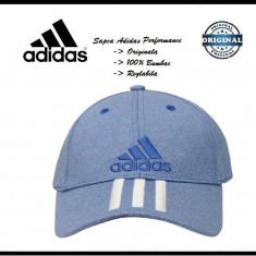 Sapca Adidas Performance Bleu - Originala - Reglabila - Bumbac - Detalii anunt - Sapca Barbati Adidas, Marime: Marime universala