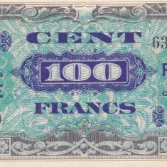 Bancnota Franta 100 Franci 1944 - P123c aUNC