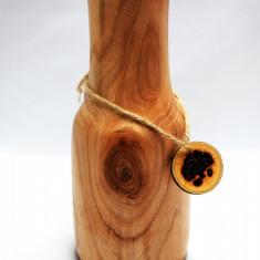 Vaza Decorativa Lemn Masiv Frasin lucrata manual - Vaza si suport flori
