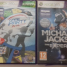 LOT 2 Jocuri - Kinect Game Party - Michael Jackson - XBOX 360 [Second hand] - Jocuri Xbox 360, Strategie, 18+, Single player