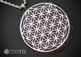 Pandantiv Orgonic Orgon Magnetic Floarea Vieții cu Cristal Ametist