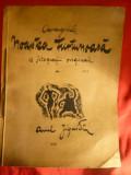 Caiet-16 Litografii originale- Aurel Jiqiudi - piesa O noapte Furtunoasa-1931