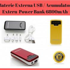 Baterie Externă USB / Acumulator Extern Portabil / Power Bank 6800mAh