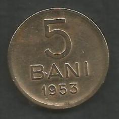ROMANIA RPR 5 BANI 1953 [6] livrare in cartonas - Moneda Romania, Cupru-Nichel