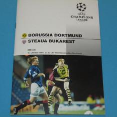 Program meci fotbal BORUSSIA DORTMUND - STEAUA Bucuresti (18.10.1995)