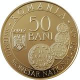 Romania 50 Bani 2017 PROOF Carol I, UNC in capsula transparenta, Alama
