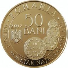 Romania 50 Bani 2017 PROOF Carol I, UNC in capsula transparenta - Moneda Romania, Alama