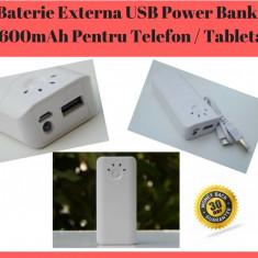 Baterie Externă USB / Acumulator Power Bank 5600mAh Pentru Telefon / Tableta