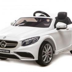 Masinuta electrica Mercedes S63 AMG Alb - Masinuta electrica copii