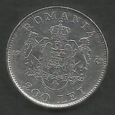 ROMANIA 200 LEI 1942 ARGINT [2] XF++, livrare in cartonas - Moneda Romania