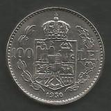 ROMANIA  100  LEI  1936    [4]  XF  ,  livrare  in  cartonas, Nichel