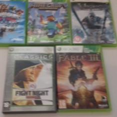 LOT 5 Jocuri Minecraft - Fable III - Viking - XBOX 360 [Second hand] - Jocuri Xbox 360, Actiune, 18+, Single player