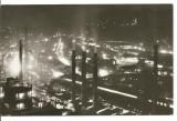 carte postala(ilustrata)-RESITA-Peisaj de noapte