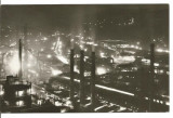 Carte postala(ilustrata)-RESITA-Peisaj de noapte, Circulata, Fotografie