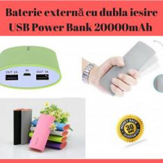 Baterie Externă Cu Dubla Iesire USB Power Bank 20000mAh / Incarcator Portabil