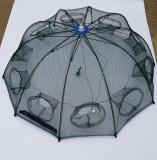 HALAU Crâsnic Varsa tip umbrela pentru raci si baboi cu 8 intrari 90 x 90 cm | arhiva Okazii.ro
