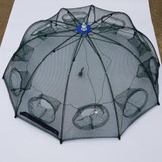 HALAU Crâsnic Varsa tip umbrela pentru raci si baboi cu 10 intrari 90 x 90 cm - Juvelnic pescuit