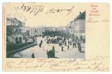 1989 - SIRET, Bucovina, Market - old postcard - used - 1904, Circulata, Printata