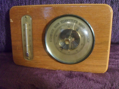 Barometru cu termometru GERMANIA foto