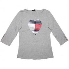 Bluza TOMMY HILFIGER Love - Bluze Dama, Femei - 100% AUTENTIC - Bluza dama Tommy Hilfiger, Marime: S, Culoare: Gri, Maneca lunga, Bumbac