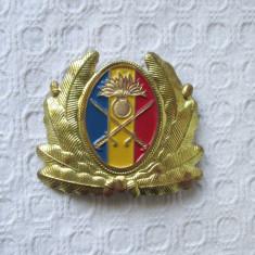 Emblema cascheta ofiter infanterie, emblema coifura armata romana MapN, cuc