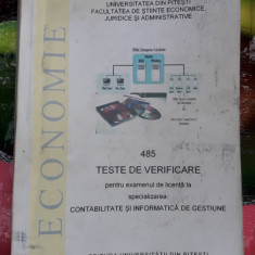TESTE VERIFICARE EXAMENUL LICENTA CONTABILITATE SI INFORMATICA DE GESTIUNE