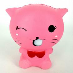 Squishy Antistress Pisica roz Parfumat cu Revenire Lenta (Roz) - Jucarie Squishy