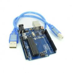 UNO R3 (ATmega328p + ATmega16u2) - Placa de Dezvoltare Compatibila cu Arduino + Cablu 1.5 m