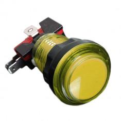 Buton Arcade Iluminat 24mm - Galben