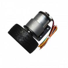 Motor cu Reductor, Codor și Roată JGB37-520 (12 V, 1:90, 107 RPM)