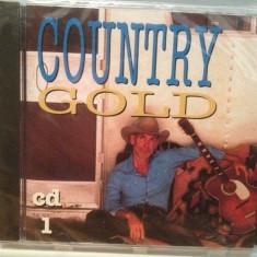 COUNTRY GOLD - VARIOUS ARTISTS (1994/DISKY/HOLLAND) - ORIGINAL/NOU/SIGILAT - Muzica Country Island rec, CD