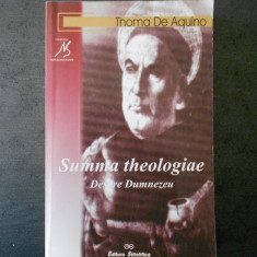 THOMA DE AQUINO - DESPRE DUMNEZEU - Carte Filosofie