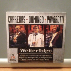 CARRERAS/DOMINGO/PAVAROTTI - 3CD BOX SET (1994/EXCLUSIV) - ORIGINAL/NOU/SIGILAT - Muzica Opera Island rec