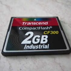CARD COMPACT FLASH 2 GB TRANSCEND CF300 IMPECABIL, RS MMCDV
