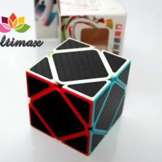 ZCube - Carbon Fiber - Skewb Cube + Stand Gratuit pentru cub