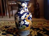 Superba vaza din ceramica , decor email