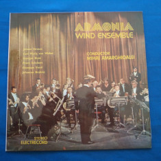 VINIL MUZICA  CLASICA-ARMONIA WIND ENSEMBLE, electrecord