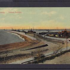 CONSTANTA   VEDEREA  DIGULUI  CIRCULATA 1910 STAMPILA TREN, Printata